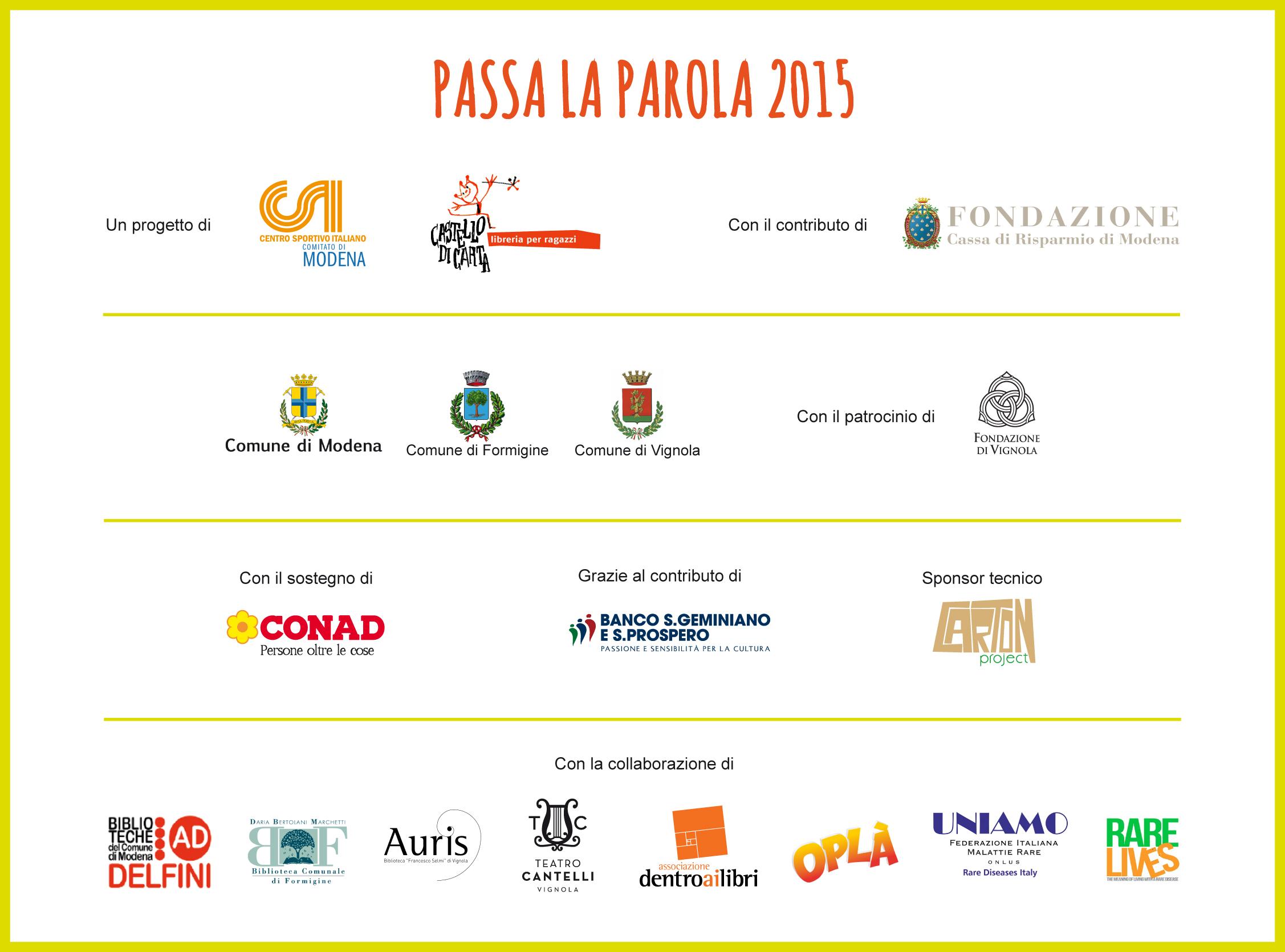 Partner e Sponsor, Collaborazioni, Patrocini